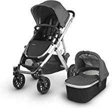 2018 UPPAbaby Vista Stroller -Jordan (Charcoal Melange/Silver/Black Leather)