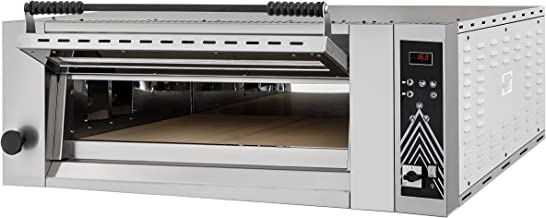 Horno para pizza UP & DOWN 6 Digital Top – Cámara de horneado totalmente refractado – Prismafood Premium adecuado para 6 pizzas de 34 cm de diámetro