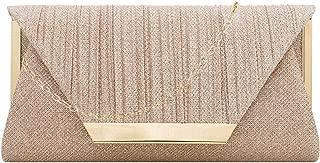 Gabrine Womens Sparkle Pleated Evening Bag Envelop Bag Handbag Clutch Purse for Wedding Prom Party