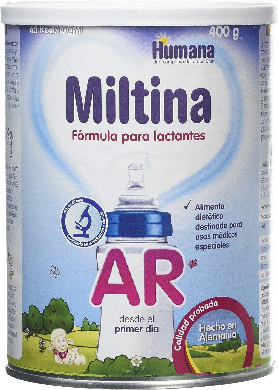 Humana MILTINA AR Leche infantil para lactantes, especial en caso de reflujo gastroesofágico desde el nacimiento, 400g,