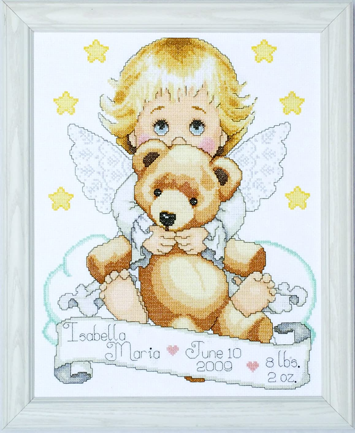 Tobin T21712 14 Count Angel Birth Record Counted Cross Stitch Kit, 11 by 14-Inch