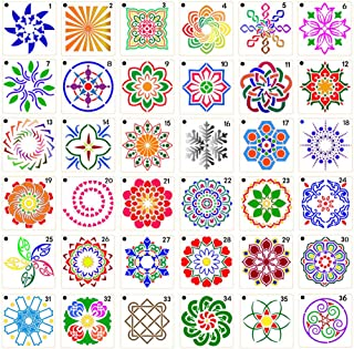 36 Pack Mandala Dot Painting Templates Stencils Perfect for DIY Rock Painting Art Projects Art Canvas Wood Furniture Cards...