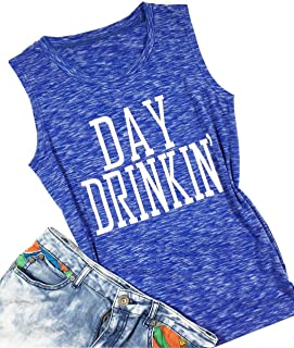 1e91f5c4b4d7f YUYUEYUE Women Day Drinkin  Cami Shirts Tank Tops Drinking Funny Casual  Shirt Tee