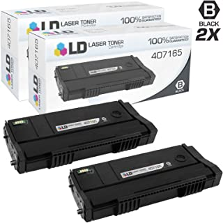 LD Compatible Toner Cartridge Replacement for Ricoh 407165 SP 100LA (Black, 2-Pack)