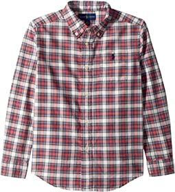 Plaid Cotton Oxford Shirt (Little Kids/Big Kids)