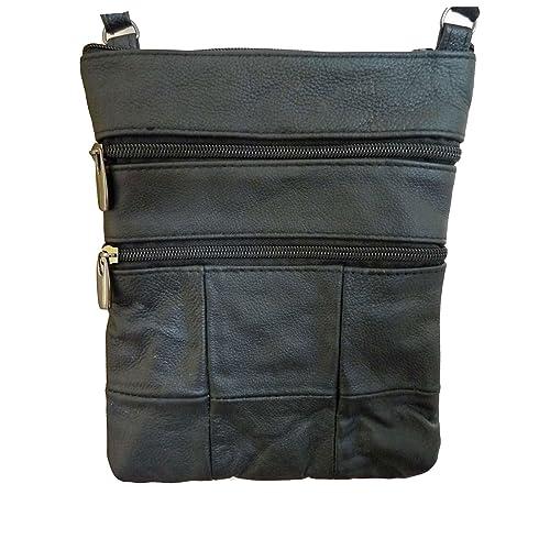 235dc25664fa Ladies Small Leather Cross Body Handbag - Single Strap Shoulder Bag Pouch -  Premium Soft Genuine