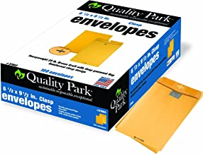 Quality Park Clasp Envelopes, 6.5 x 9.5 - Inch, Brown Kraft,  Box of 100 (37863) ,Packaging may vary.