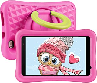8 inch Kids Tablet, Android OS, 2GB RAM, 32GB ROM, Kidoz Pre Installed,Kid-Proof Case, WiFi Tablet, Pink