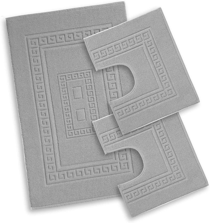 Centesimo Web Shop Tappeto Bagno in 4 Misure E 8 Colori Prodotto in Italia Misto Cotone SCENDIDOCCIA Classico Set 3 Pezzi Bordeaux