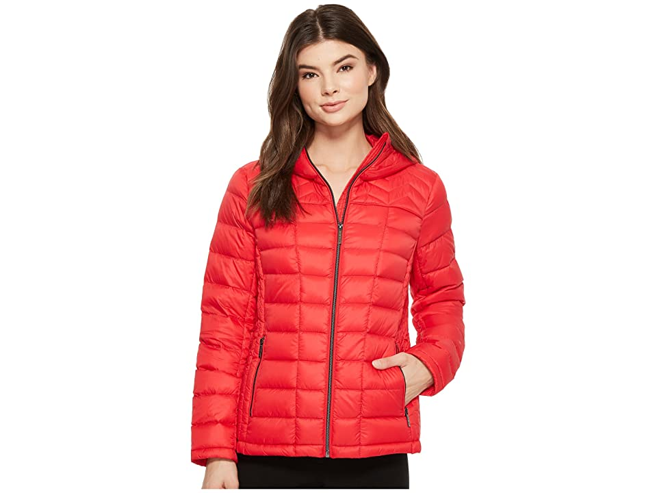 MICHAEL Michael Kors Zip Front Hooded Packable M823394F (True Red) Women
