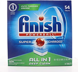 Finish All-in-One Dishwasher Detergent Powerball Tablets, Fresh Scent 54 ea