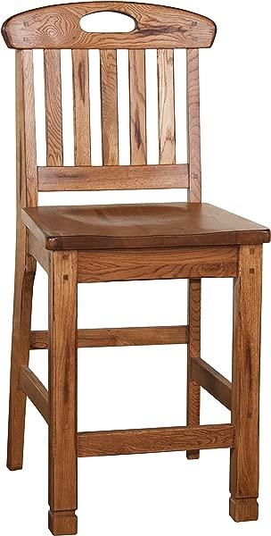 Sunny Designs 1820RO Slatback Barstool Rustic Oak Finish