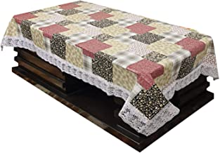 Kuber Industries Checkered PVC 4 Seater Center Table Cover - Multi