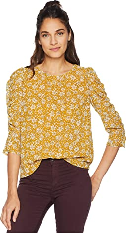 Wild Blooms Ruched Sleeve Blouse