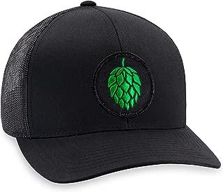 Hops Hat – Beer Trucker Hat Baseball Cap Snapback Golf Hat (Black)
