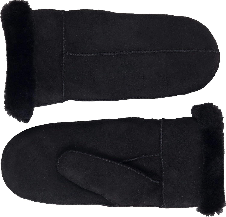 Zavelio Women's Premium Shearling Sheepskin Leather Fur Mittens