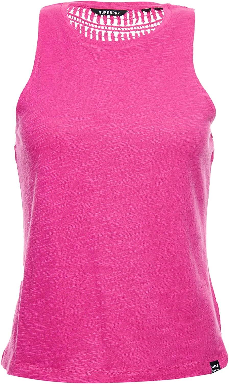 Superdry Lily Crochet Insert Women T-Shirt Black
