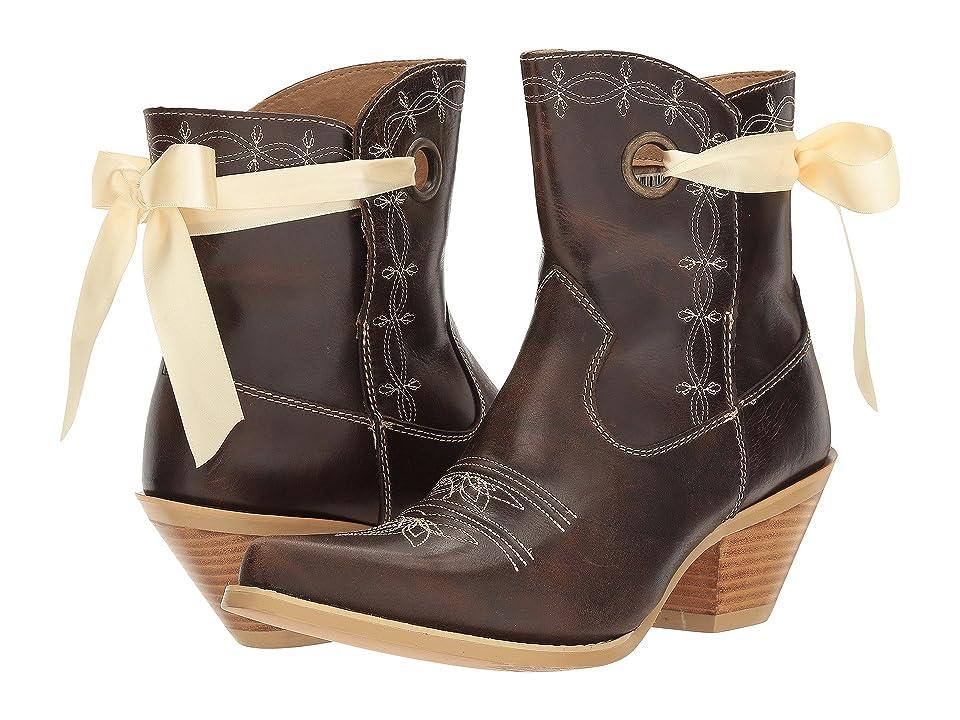 Durango Crush 7 Ribbon Bootie (Dark Brown) Cowboy Boots