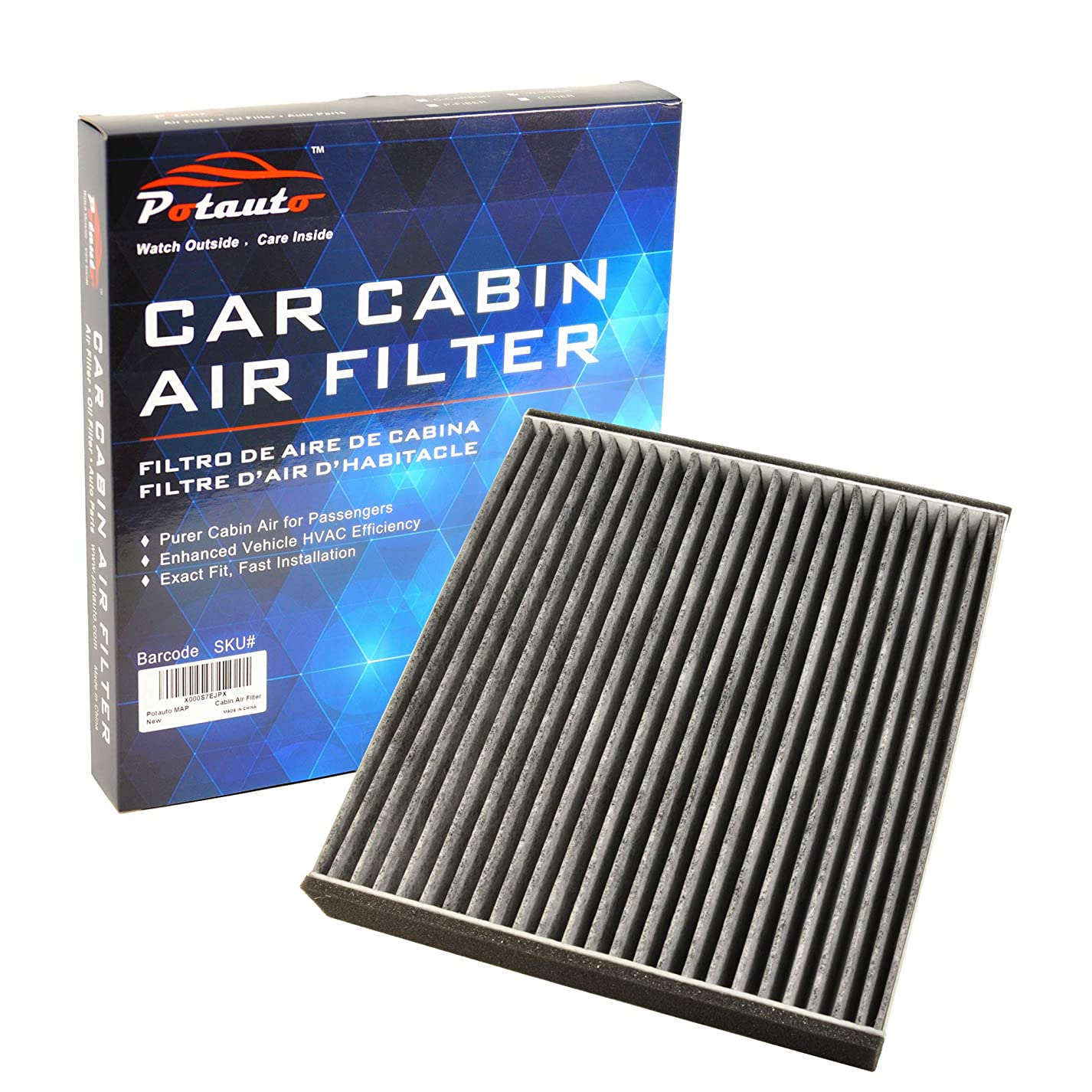 POTAUTO MAP 1016C (CF10562) Replacement Activated Carbon Car Cabin Air Filter for LEXUS, GS300, GS430, LS430, SC430 luh212756248905