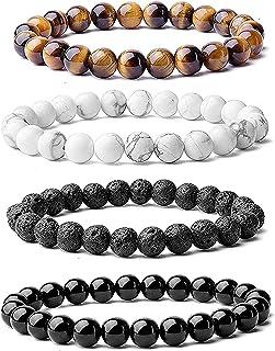 Hot And Bold Multi Strand Natural Gem Stone Beads Combo Bracelets Set. Unisex.