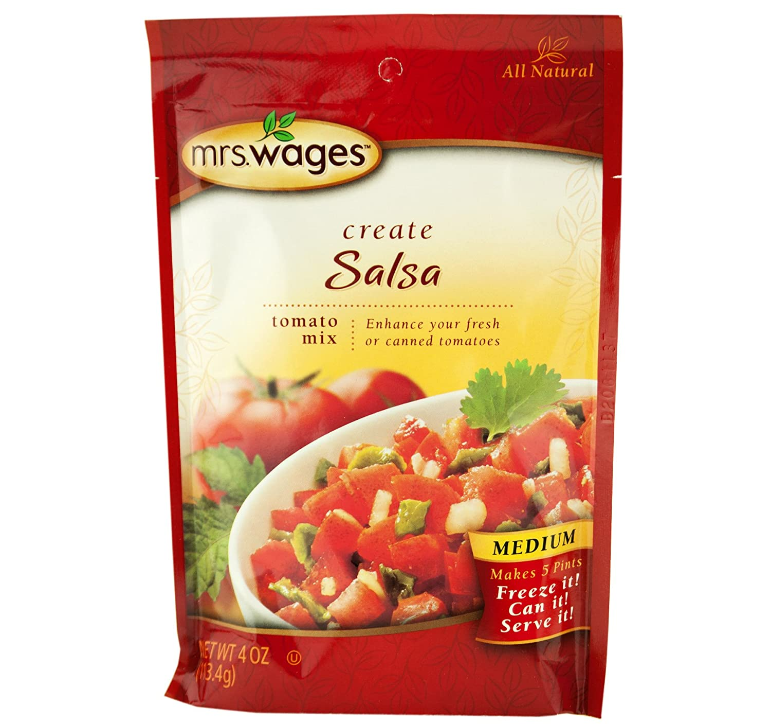Mrs. Wages Create Your Own Salsa Mix oz. Medium Regular discount To Packets 4 Al sold out. in