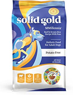 Solid Gold - Mmillennia With Natural Beef, Brown Rice & Peas - Grain-Free - Fiber Rich- Probiotic Support - Dry Dog Food For Sensitive Stomachs