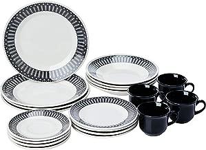 Aparelho de Jantar Chá 20 Peças Biona Nativa Branco/Preto
