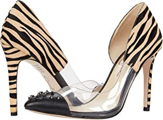Jessica Simpson Women's Payve 2 Genuine Calf Hair D'Orsay Pump Black Combo (9.5, Black Combo)
