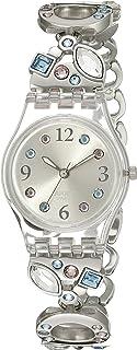 Swatch Women's LK292G Menthol Tone Analog Display Quartz Silver Watch