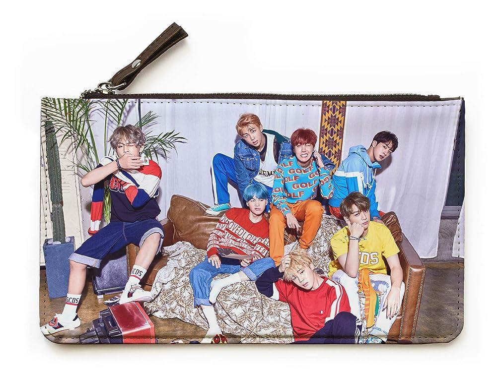 Fanstown Kpop BTS Bangtan Boys Pencil case Pencil Pouch Pencil Bag Love Yourself with lomo Cards