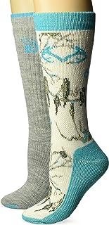 RealTree Ladies Snow Camo Wool Blend Socks, 2 Pair
