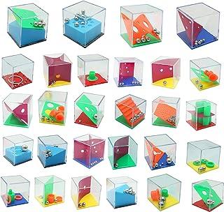 28 PCS Mini Cube Puzzle Box Set | Maze Puzzle Box, IQ Mind Games, Fidget Toys, Brain Teaser Games for Kids and Adults | Pa...