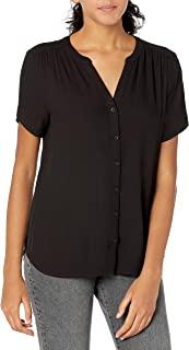 Amazon Essentials Women's Short-Sleeve Woven Blouse