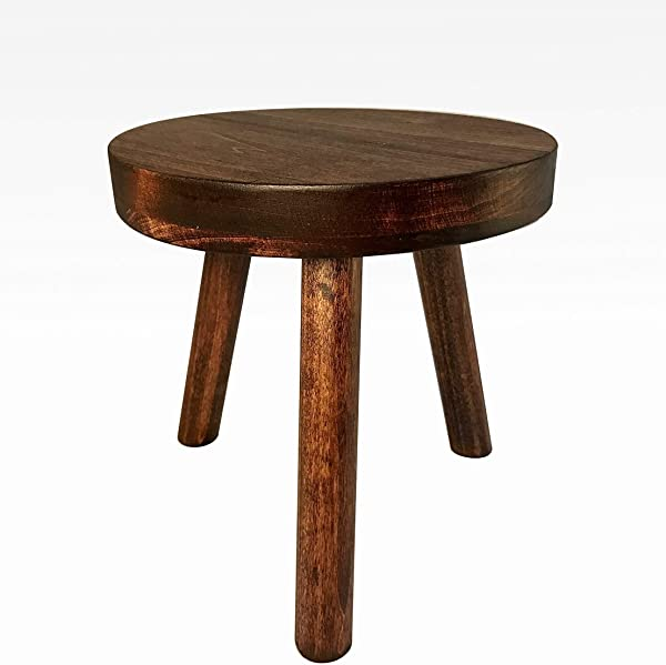 Modern Plant Stand Three Leg Stool By CW Furniture In Mahogany Indoor Wood Flower Pot Base Display Holder Solid Wooden Kids Chair Table Simple Minimalist Small