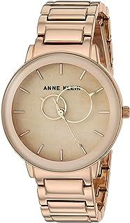 ساعة كوارتز للنساء من ان كلاين، عرض انالوج وسوار من الستانلس ستيل AK3448BHRG