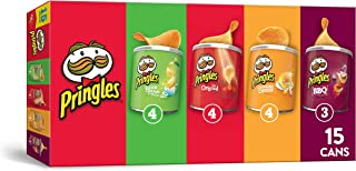 Pringles Potato Crisps Chips, Flavored Variety Pack, 15 Count, 20.6oz