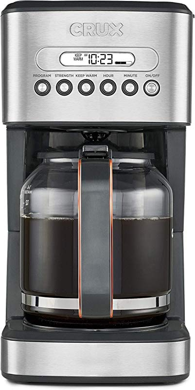 CRUX 14540 14 Cup Programmable Coffee Maker