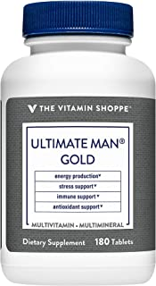 Ultimate Man Gold Multivitamin, High Potency Multi – Energy Antioxidant Blend, Daily Multimineral Supplement for Optimal M...