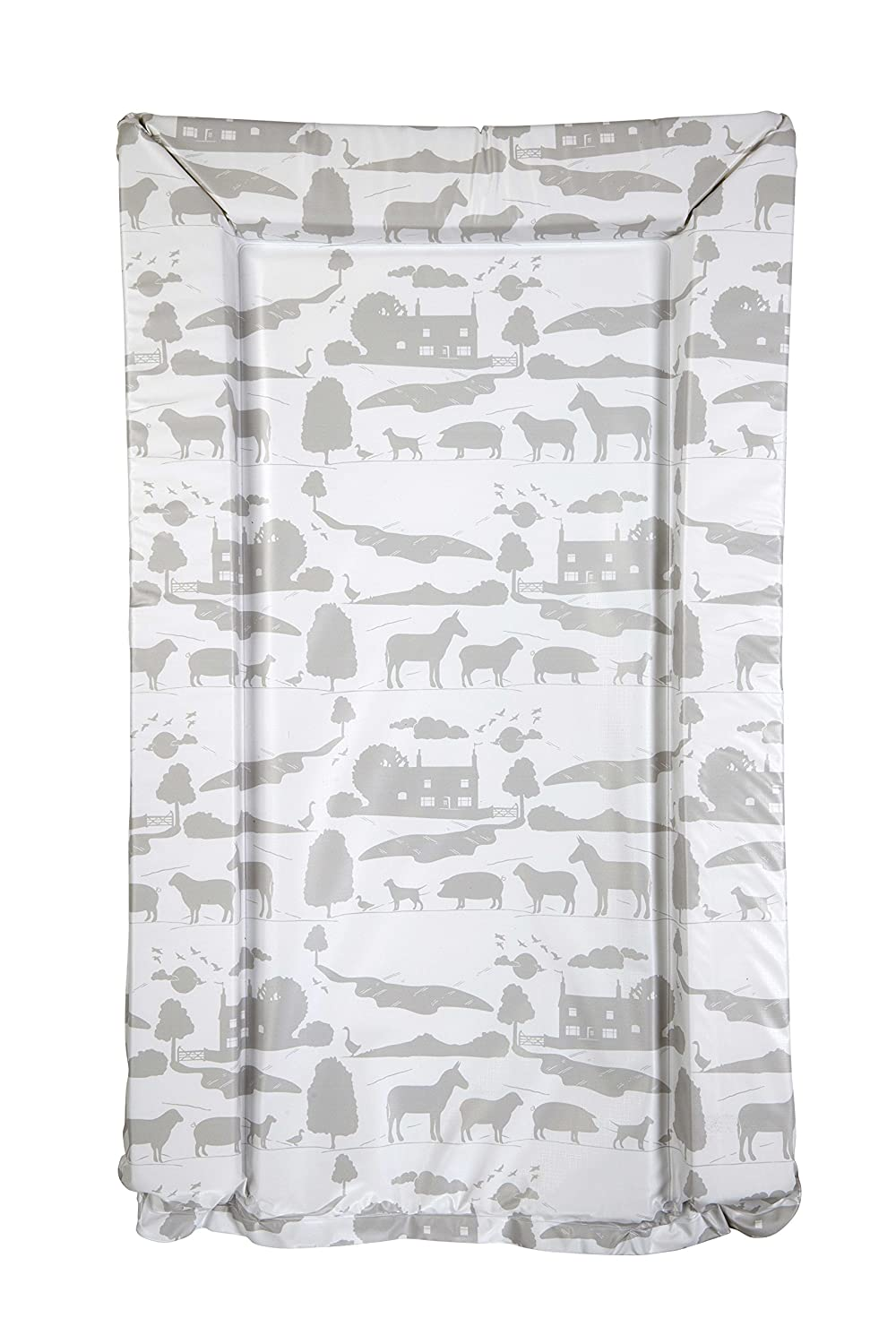 East Coast Nursery Changing Mat, Grey, On The Farm, Pack of 2