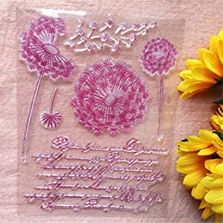 طوابع GAWEI Sweet Dandelion الشفافة لصنع البطاقات و DIY سكرابوكينغ ملصقات شفافة من السيليكون لأختام صور الألبوم