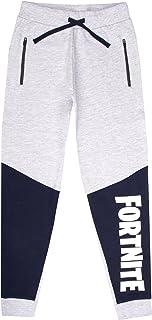 Fortnite - Game Merchandise - Pantalones de chándal para niños - Pantalones de chándal 100% algodón para niños - Gris - Pa...