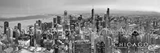 black and white chicago skyline prints
