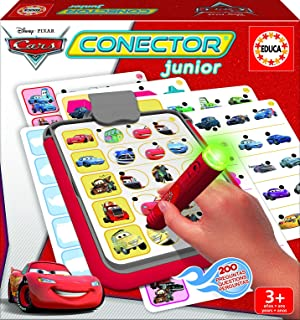 Educa Borrás- Conector Junior Cars,, 23.6 x 23.6 x 4.8 (EB16136)