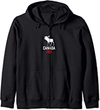 Canada Moose 150 Canadian Confederation Proud 150th Gift Zip Hoodie