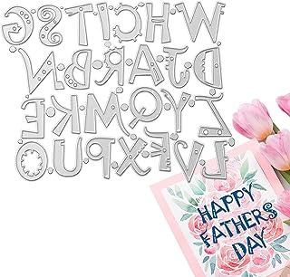 OOTSR 26Pcs Matrice de Découpe Alphabet Matrice de Découpe Scrapbooking DIY Gaufrage Pochoirs de Découpe pour la Fabricati...