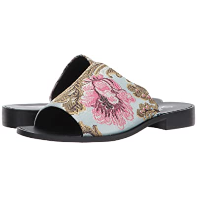 Shellys London Enya Floral Slide (Blue Floral) Women