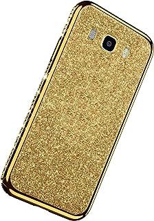 Herbests Custodia Compatibile con Samsung Galaxy J7 2016 Cover Case Brillantini Bling Paillettes Custodia Diamante a Stras...