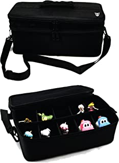Technoskin - Figure Carrying Case for Amiibo, Disney Infinity, and Skylanders - 10 Slots - Carrying Strap - Card Holders