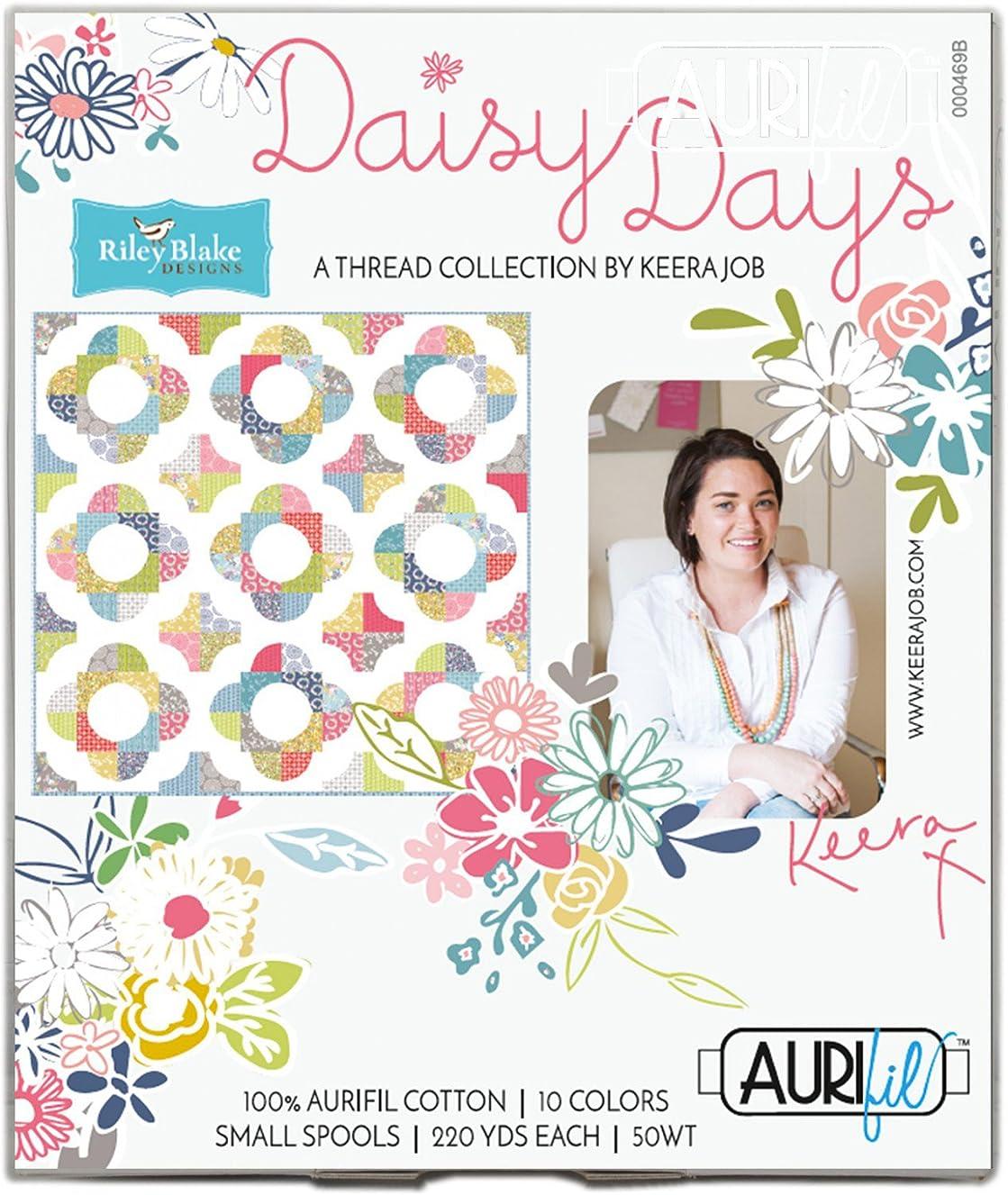 Keera Job Daisy Days Aurifil Thread Kit 10 Small Spools 50 Weight KJ50DD10
