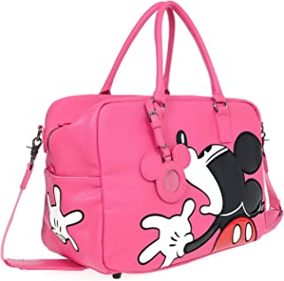 A39.Disney Mickey Mouse Men Women Travel Weekend Duffel Luggage Overnight Bag (03.Pink)